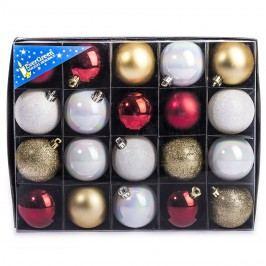 HTH Vianočné gule mix 20 ks pr. 6 cm
