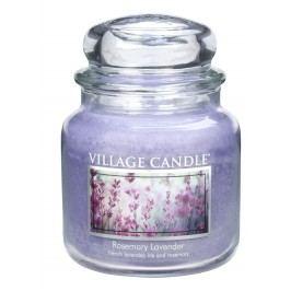 Village Candle Vonná svíčka ve skle, R ozmarýn a levandule - Rosemary Lavender, 397 g, 397 g