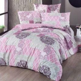 Night in Colours Bavlnené obliečky Ottorino ružová, 140 x 220 cm, 70 x 90 cm