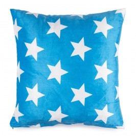 JAHU Vankúšik mikroplyš Stars modrá, 40 x 40 cm