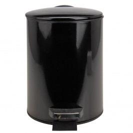 Kozmetický pedálový kôš, 3 l, čierna