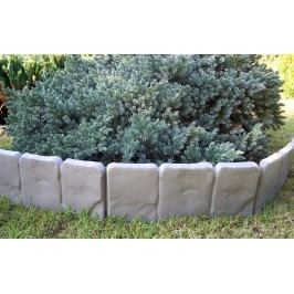 Záhradná palisáda obrubník lem trávniku 2,5 m sivá,