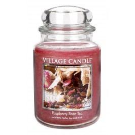 Village Candle Vonná svíčka ve skle, Maliny a čajová růže - Raspberry Tea Rose, 645 g, 645 g
