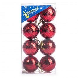 HTH Vianočné gule 8 ks červená