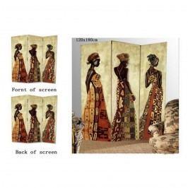 Paravan africká žena 3dielny
