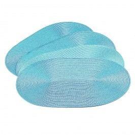 Prestieranie Deco ovál svetlo modrá, 30 x 45 cm, sada 4 ks