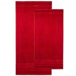 4home sada Bamboo Premium osuška a uterák červená, 70 x 140 cm, 50 x 100 cm