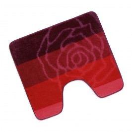 Kúpeľňová predložka Elli Červená ruža WC, 60 x 50 cm