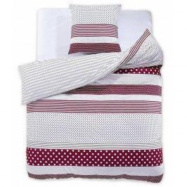 DecoKing Bavlnené obliečky Red Velvet, 200 x 220 cm, 2 ks 80 x 80 cm