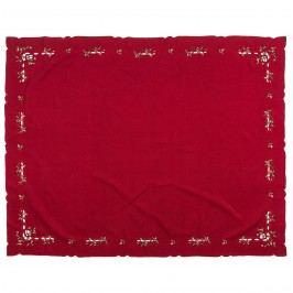 Vianočný obrus imelo červená, , 120 x 140 cm