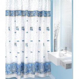 Sprchový záves Mušle modrá, 180 x 200 cm