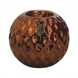 StarDeco Okrúhly svietnik bronzová, 10 cm,