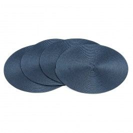 Prestieranie Deco okrúhle tmavo modrá, pr. 35 cm, sada 4 ks
