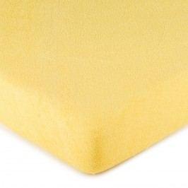 froté prestieradlo žltá, 160 x 200 cm