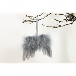 Sada vianočných ozdôb Anjelské krídla 12 ks, sivá