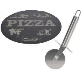 Podložka pod pizzu a krájač