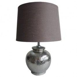 Stolná lampa strieborná 45 cm