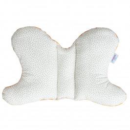Babymatex Detský vankúš Motýlik Bodky, 42 x 26 cm