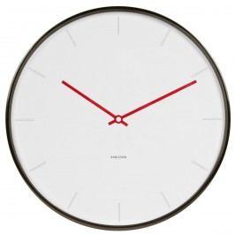 Karlsson 5643WH Designové nástenné hodiny, 40 cm