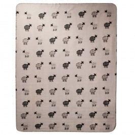 VOG Fleecová deka Ovečky sivá, 130 x 170  cm,