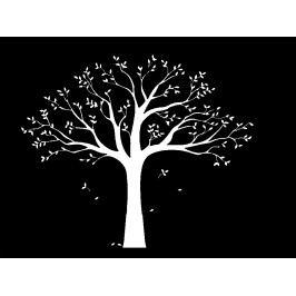 Samolepiaca dekorácia XXL biely rodinný strom