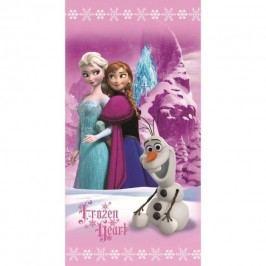 Jerry Fabrics Osuška Ľadové kráľovstvo Frozen Pink trio