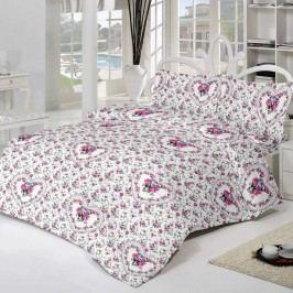Kvalitex Krepové obliečky delux Spring rose, 240 x 200 cm, 2 ks 70 x 90 cm