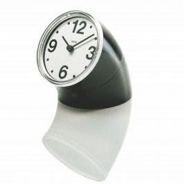 Alessi Stolové hodiny Cronotime 8,5 cm, čierne