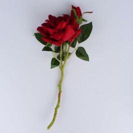 Dakls Umelá rozkvitnutá ruža, vínová