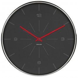 Karlsson 5644GY Designové nástenné hodiny, 40 cm
