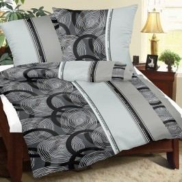 Krepové obliečky Špirály sivá, 240 x 200 cm, 2 ks 70 x 90 cm
