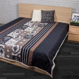 Night in Colours Prehoz na posteľ Paolina sivá 160x220, 160 x 220 cm