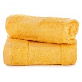 darčeková sada uterákov bambus Ankara žltá