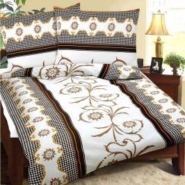 Krepové obliečky Béžový sen, 240 x 220 cm, 2 ks 70 x 90 cm