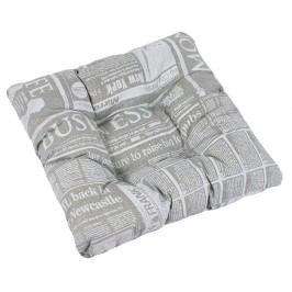 Sedák Adela Noviny sivá, 40 x 40 cm