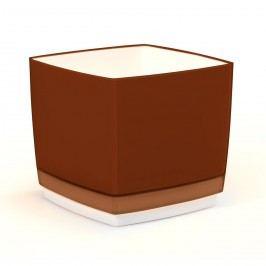 Plastový kvetináč Cube 150 hnedá