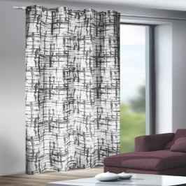 Záves s krúžkami Mesut bieločierna, 135 x 245 cm