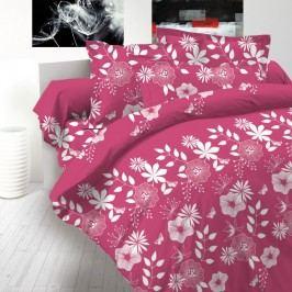 Kvalitex bavlnené obliečky delux Coccona ružová, 200 x 200 cm, 2 ks 70 x 90 cm