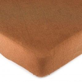 jersey prostěradlo hnedá, 90 x 200 cm