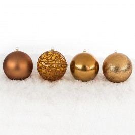 Vianočné gule mix pr. 10 cm, medená, HTH