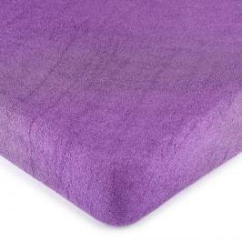 froté prestieradlo fialová, 180 x 200 cm