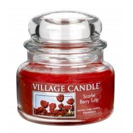 Village Candle Vonná svíčka ve skle, Tulipány - Scarlet Berry Tulip, 269 g, 269 g