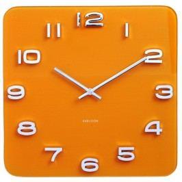 Karlsson 5641YE Designové nástenné hodiny, 35 cm