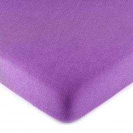 jersey prestieradlo fialová, 160 x 200 cm