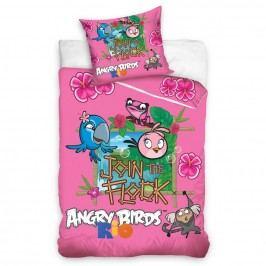 Bavlnené obliečky Angry Birds Rio Stella, 140 x 200 cm, 70 x 80 cm