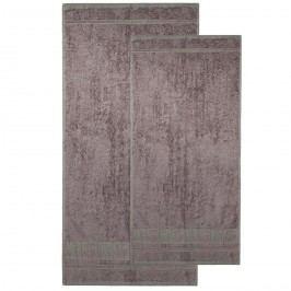 sada Bamboo Premium osuška a utierak sivá, 70 x 140 cm, 50 x 100 cm