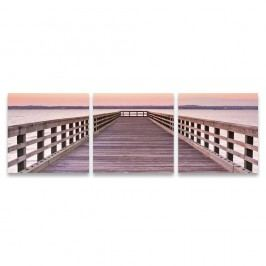 Autronic Trojdielny obraz na plátne Pier, OBK046