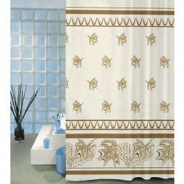 Sprchový záves Listy béžová, 180 x 200 cm