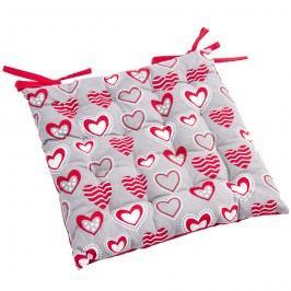 Sedák Hearts prešívaný, 40 x 40 cm