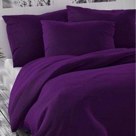 Kvalitex Saténové obliečky Luxury Collection tmavo fialová, 140 x 220 cm, 70 x 90 cm